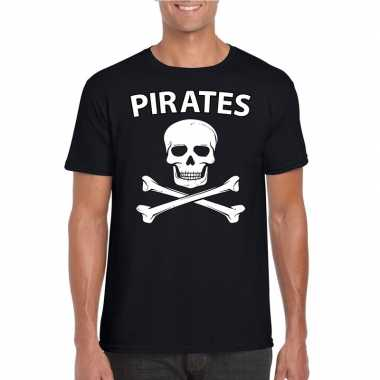 Carnavalspak piraten shirt zwart heren