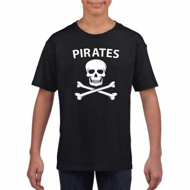Carnavalspak piraten shirt zwart kinderen