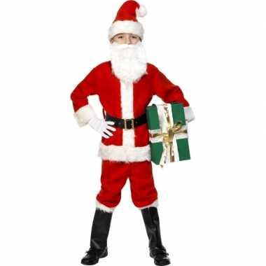 Deluxe kerstman kinder carnavalspak