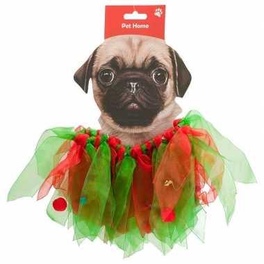 Huisdieren kerstcarnavalspak kerstelf pakje voor honden