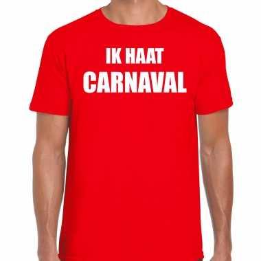 Ik haat carnaval verkleed t shirt / carnavalspak rood voor heren