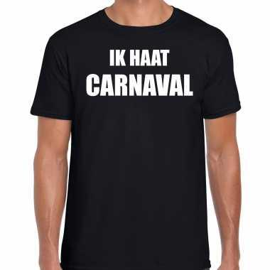 Ik haat carnaval verkleed t shirt / carnavalspak zwart voor heren