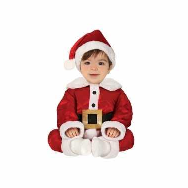 Kerstman baby verkleed carnavalspak 3 delig