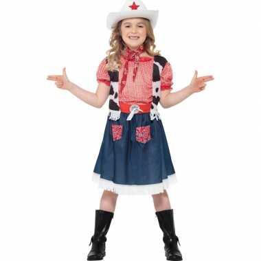 Meisjes carnavalspak cowgirl