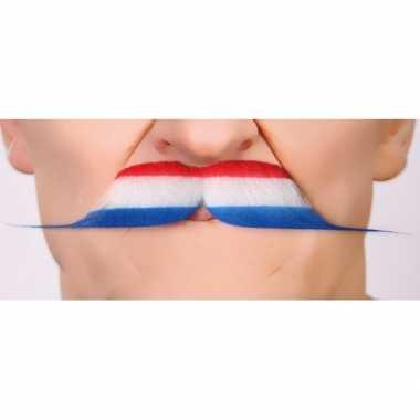 Nederlandse vlag carnavalspak accessoire snor