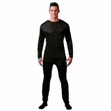 Ondercarnavalspak verkleed suit zwart voor mannen