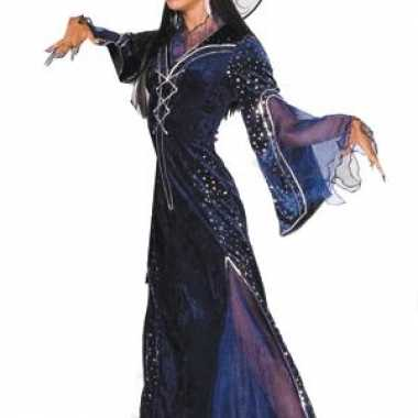 Paars heksencarnavalspak dames
