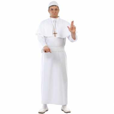 Paus carnavalspak volwassenen wit