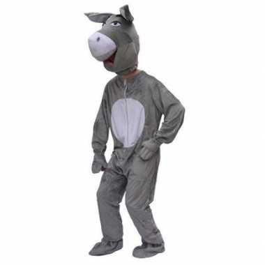 Pluche ezel carnavalspaks volwassenen