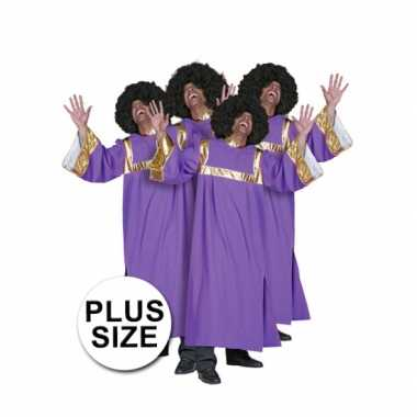 Plus size gospel koor carnavalspak