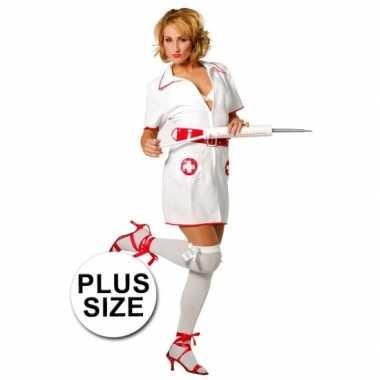 Plus size verpleegster carnavalspak