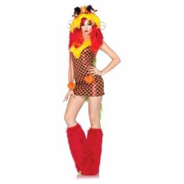 Sexy carnavalspak draken jurkje