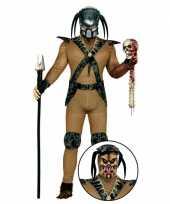 Carnavalspak monster pak met masker voor heren